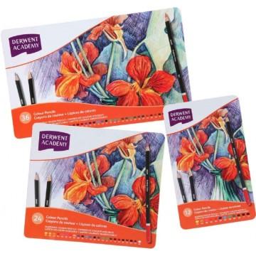 Derwent Academy Colour Pencils 12'S Tin