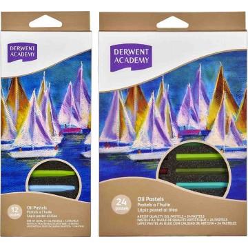Derwent Academy Oil Pastels 24'S