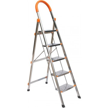 6-Step Foldable Stainless Steel Ladder 1400mm