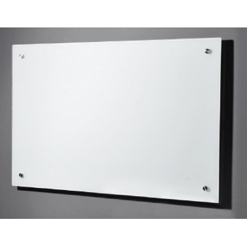 Magnetic Tempered Glass Board w/Spacers (60 x 90cm) Premium-White - With Installation