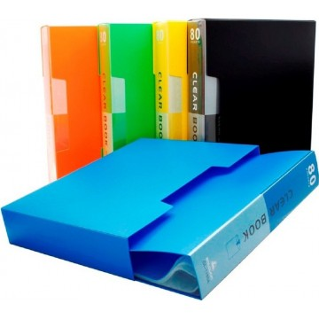 Office Clear Book File (80 Pocket) A4