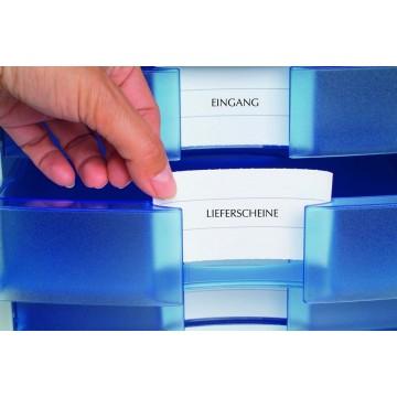 HAN File Cabinet 4 Drawers (368 x 294 x 235mm) Grey Translucent Blue