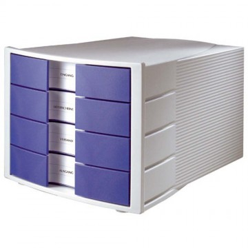 HAN File Cabinet 4 Drawers (368 x 294 x 235mm) Grey Blue