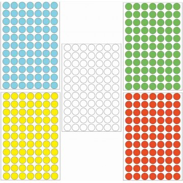 Herma Colour Round Labels 2464'S 13mm