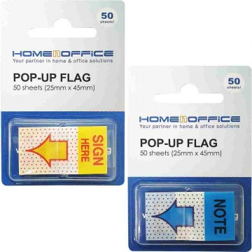 """HnO Pop-Up Flags 1"""" x 1.7"""" (Sign Here, Note)"""
