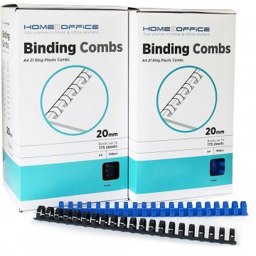 HnO Plastic Binding Ring A4 100'S 20mm