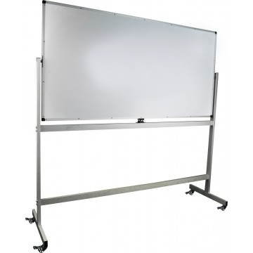 Mobile Magnetic Whiteboard (90 x 180cm) Aluminium Frame Double-Sided - With Installation