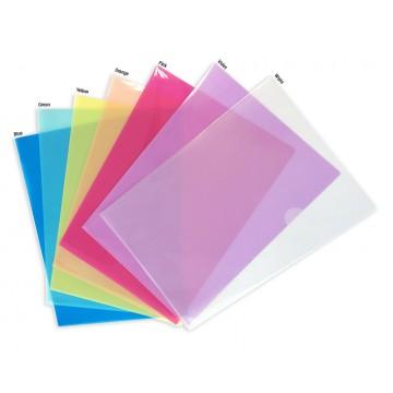 Translucent PP L-Shape Folder 12'S A4 Colour