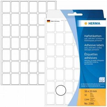 Herma Multi-Purpose White Labels 32'S 16 x 22mm