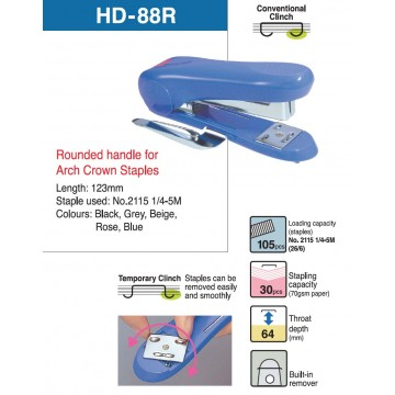 Max Desktop Stapler HD-88R 30 Sheets