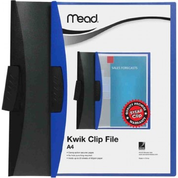 Mead Kwik Clamp Clip File (20 Sheets) A4