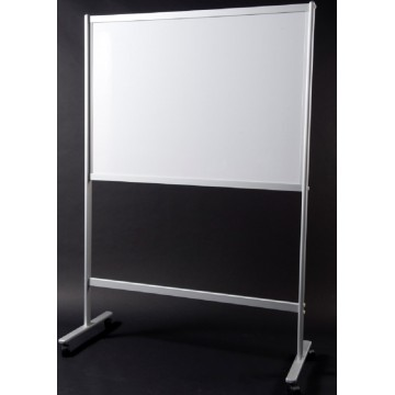 Mobile Magnetic Whiteboard (120 x 150cm) Aluminium Frame Single-Sided - With Installation