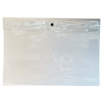 PVC 1-Button Folder A4 Clear