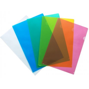 Translucent PP L-Shape Folder 12'S FS/F4 Colour