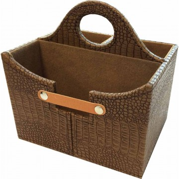PU Leather Storage Carrier