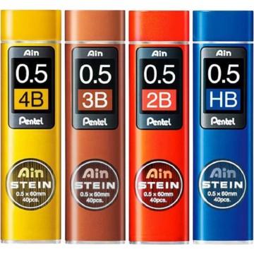 Pentel Ain Stein Pencil Lead 40'S 0.5mm (2B, 3B, 4B, HB)