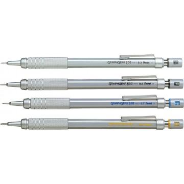 Pentel GraphGear-500 Mechanical Pencil (0.3mm, 0.5mm, 0.7mm, 0.9mm)