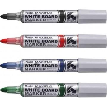 Pentel Maxiflo Whiteboard Marker Bullet Broad