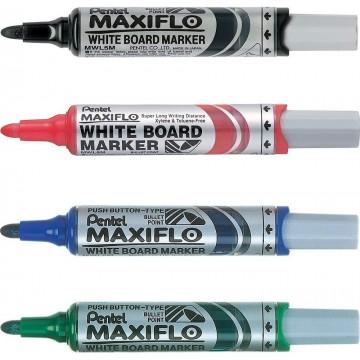 Pentel Maxiflo Whiteboard Marker Bullet Medium
