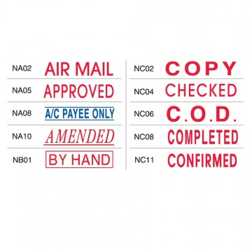 Shiny OA Pre-Inked Stamp (AIR MAIL, AMENDED, BY HAND, COPY, CHECKED etc)