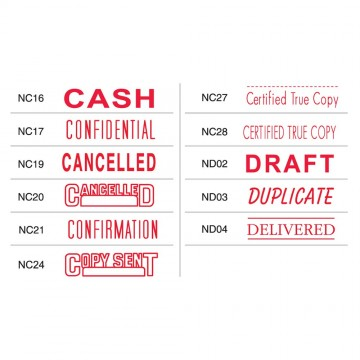 Shiny OA Pre-Inked Stamp (CONFIDENTIAL, CANCELLED, DRAFT, DELIVERED, CASH etc)