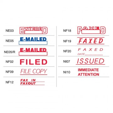 Shiny OA Pre-Inked Stamp (ENTERED, EMAILED, FILED, FAXED, ISSUED etc)