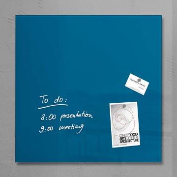 Sigel Magnetic Glass Board artverum (48 x 48 x 1.5cm) Dark Blue - With Installation