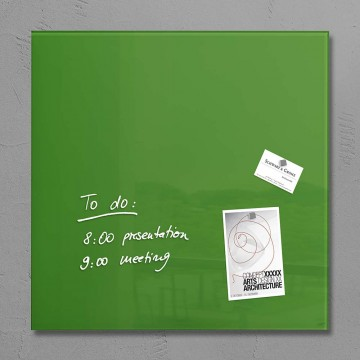 Sigel Magnetic Glass Board artverum (48 x 48 x 1.5cm) Green