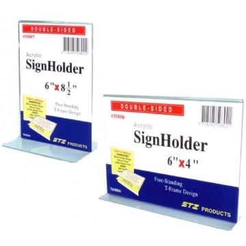 "STZ Acrylic Sign Holder (12"" x 8.5"")"