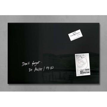 Sigel Magnetic Glass Board artverum (60 x 40 x 1.5cm) Black