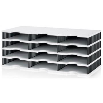 Styrodoc Trio Storage System w/12 Compartments Grey/Black