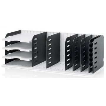 Styrorac Sorting Station w/8 Dividers and 3 Trays Grey/Black