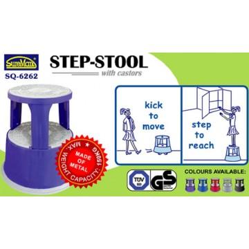 Step Stool w/Castors 40cm