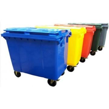 Mobile Waste Bin w/Brake (1280 x 780 x 1235mm) 660L