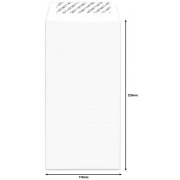 White Envelope DL (110 x 220mm) Peel & Seal 50'S