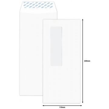 White Window Envelope DL (110 x 220mm) Peel & Seal 50'S