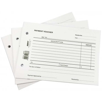 Payment Voucher Pad 50 Sheets 10'S