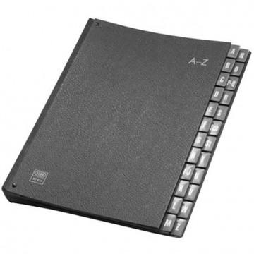 Elba Desk Organiser 42404 A-Z Black