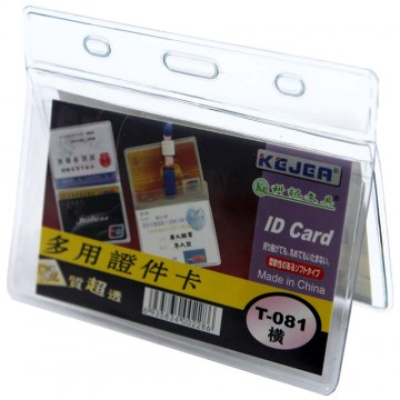 Kejea 2 Pockets PVC Multi-Function ID Card T-081H (90 x 55mm)