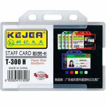 Kejea Staff Card Holder T-300H Single Rigid (85 x 55mm)