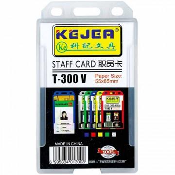 Kejea Staff Card Holder T-300V Single Rigid (55 x 85mm)