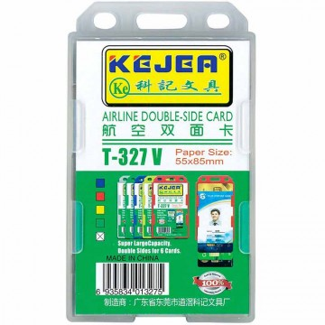 Kejea Staff Card Holder T-327V Double Rigid (55 x 85mm)