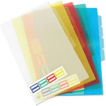 Translucent PP L-Shape Folder 4-Section A4 Colour