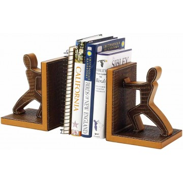 PU Leather Bookend 2'S