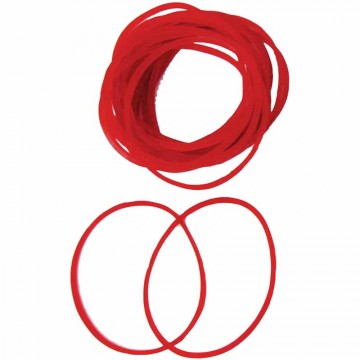 Rubber Bands 100g Red