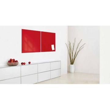 Sigel Magnetic Glass Board artverum (48 x 48 x 1.5cm) Red