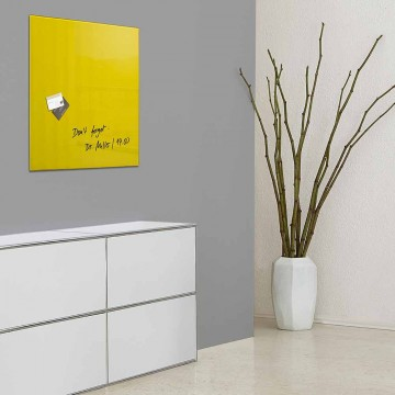 Sigel Magnetic Glass Board artverum (48 x 48 x 1.5cm) Yellow