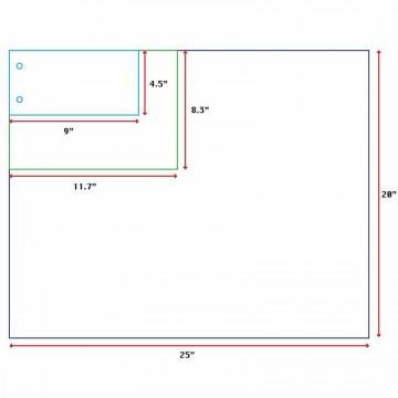 "Vanguard Sheet w/2-Hole 100'S (4.5"" x 9"")"